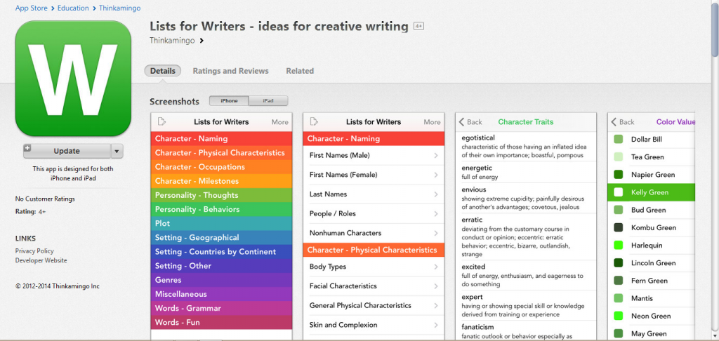 """Destroy Writers Block With """"Lists for Writers"""" App - The Writing"""
