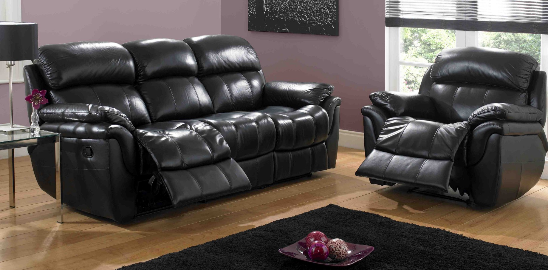 Cool Get Comfort With Manual Recliner Sofas Leather Lilly Machost Co Dining Chair Design Ideas Machostcouk