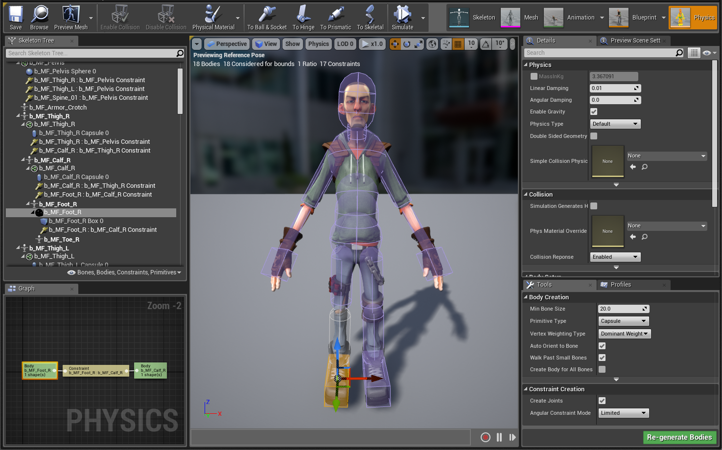 Physics Constraint Ue4