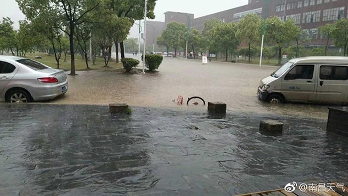 LOOK: City of Nanchang submerged after heavy rainfall