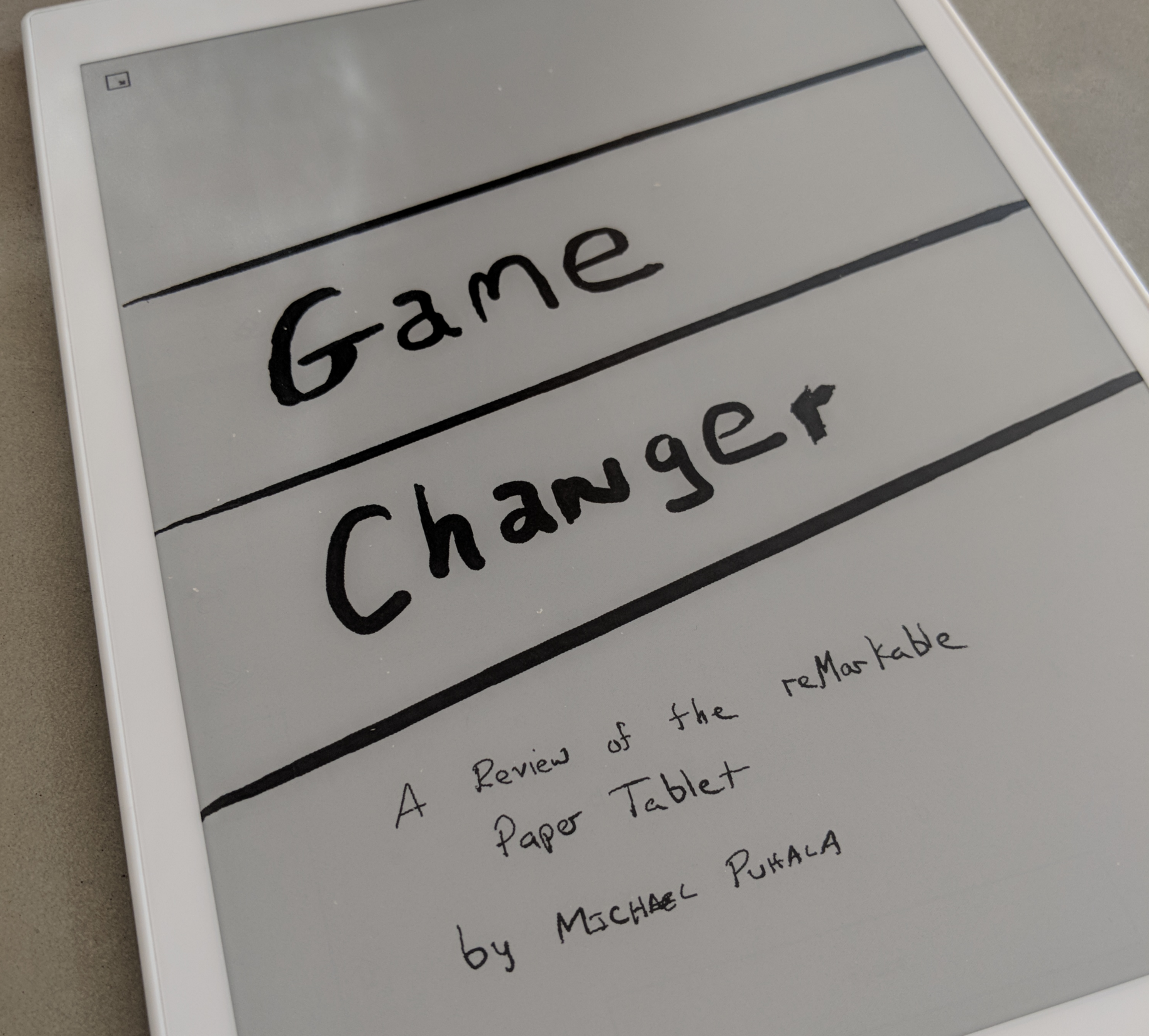 60 days with the reMarkable 'paper tablet' - Puhala Blog