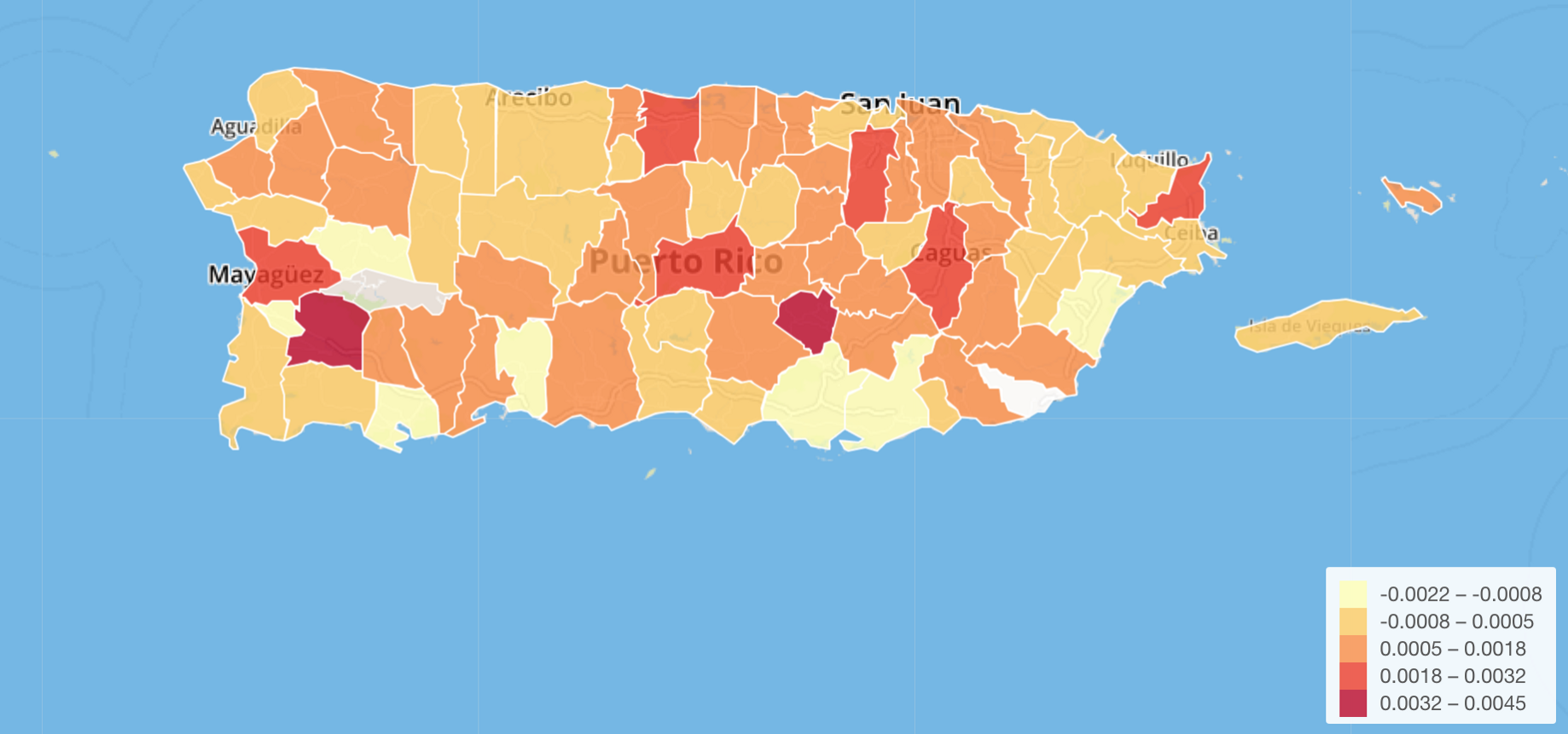 How to Visualize with Custom GeoJSON Map— Puerto Rico