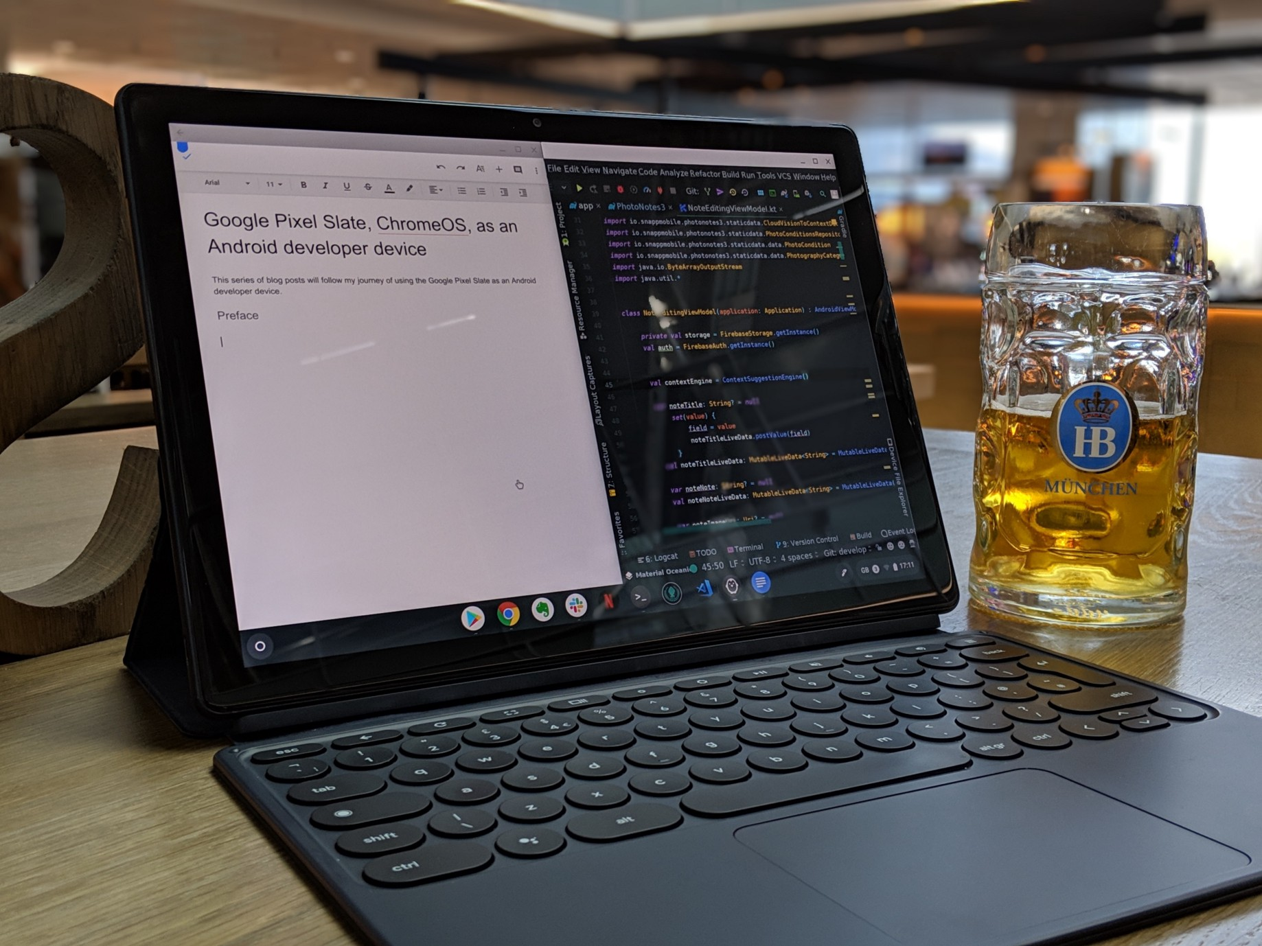 Google Pixel Slate, ChromeOS, as an Android developer device