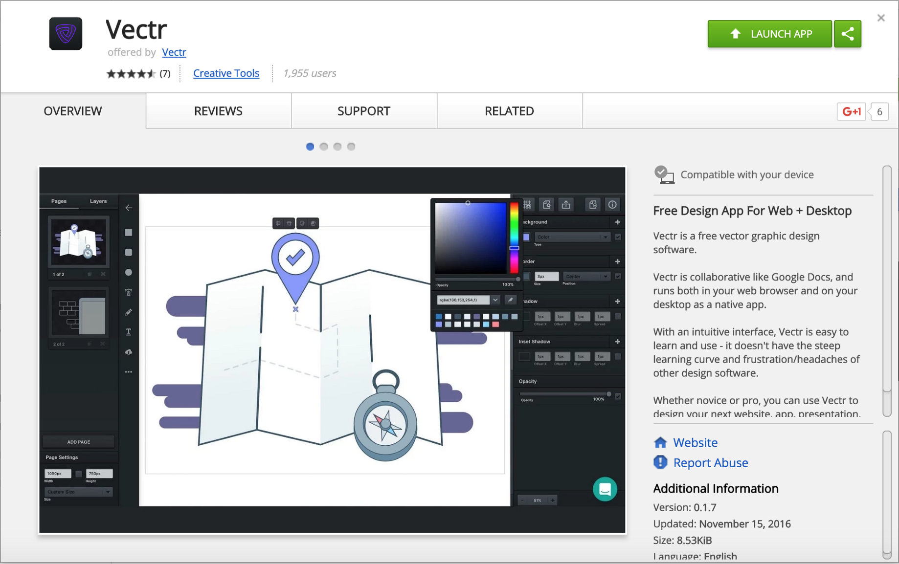 Vectr — Free Graphic Design Software — Launches On Chromebook
