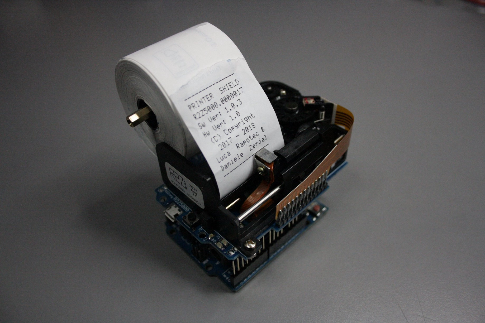 Thermal Printer Mounts Directly to an Arduino or Raspberry Pi