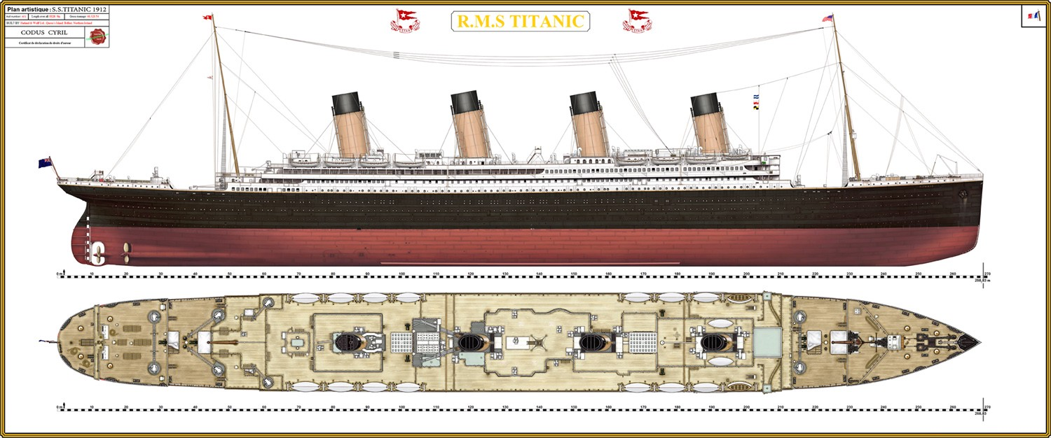 the titanic was built by the harland and wolff shipyard in belfast  thomas  andrews, her architect, died in the disaster