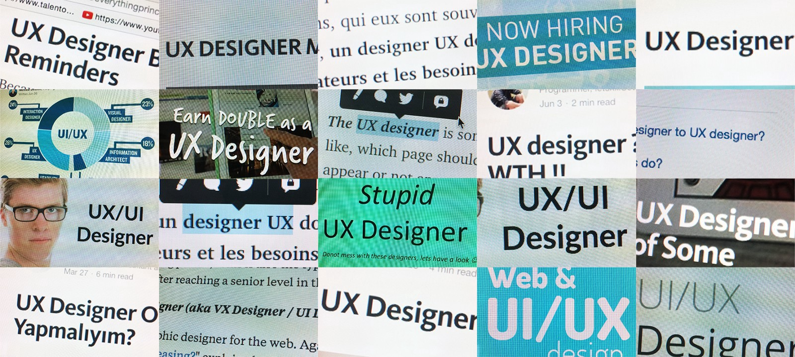 Three reasons to Designers not to use the term UX Designer