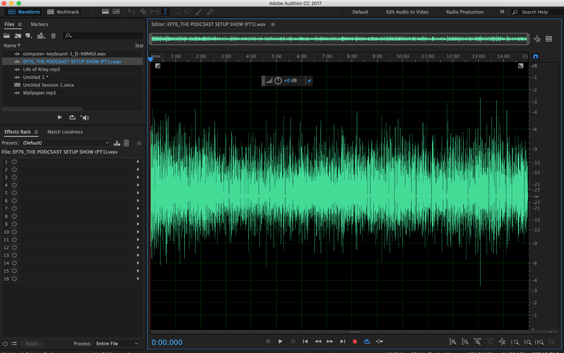 140: Quick Tip: Effects in Waveform vs  Multitrack in Adobe Audition