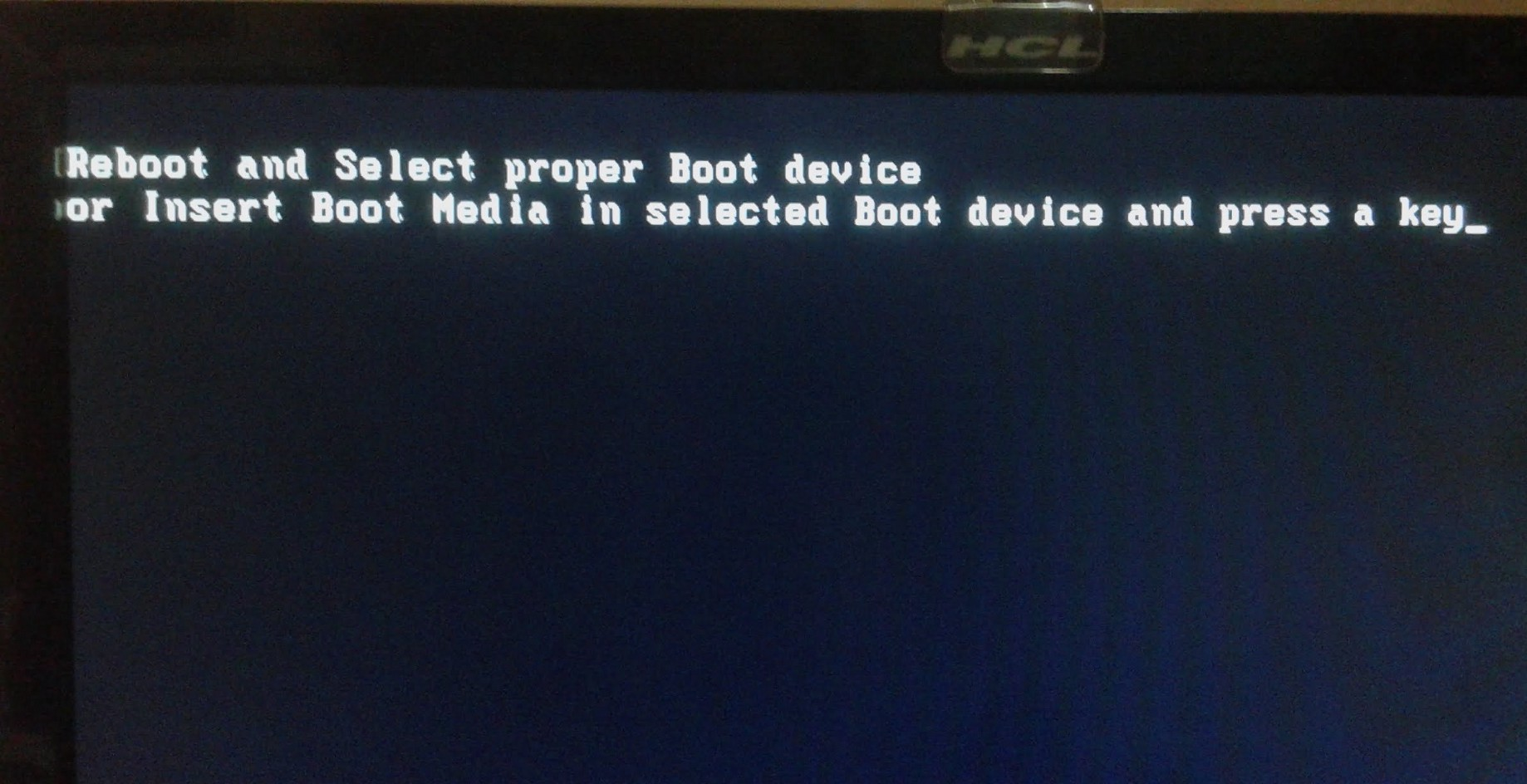 🚩'Reboot and Select Proper Boot Device' → Windows 7/8/10 Error