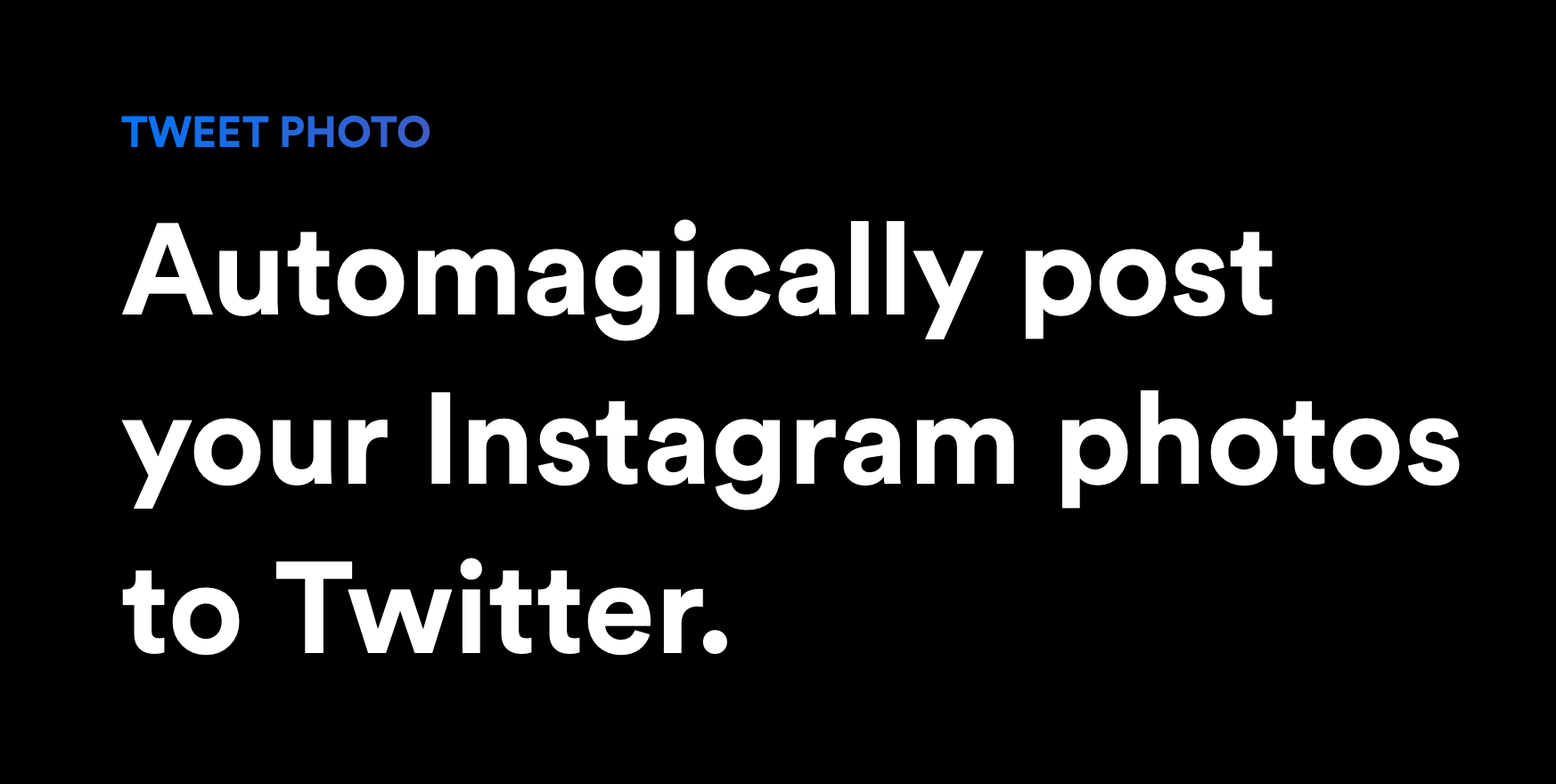 A better way to post your Instagram photos to Twitter