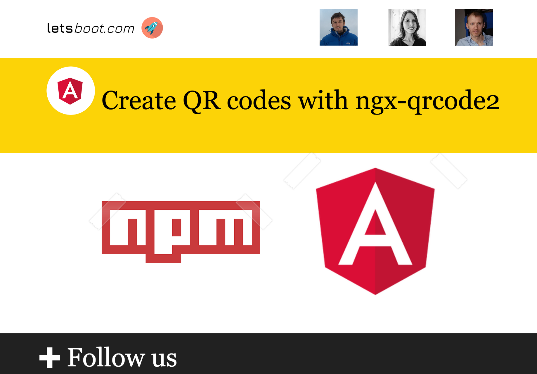 Create QR codes with ngx-qrcode2 - letsboot - Medium
