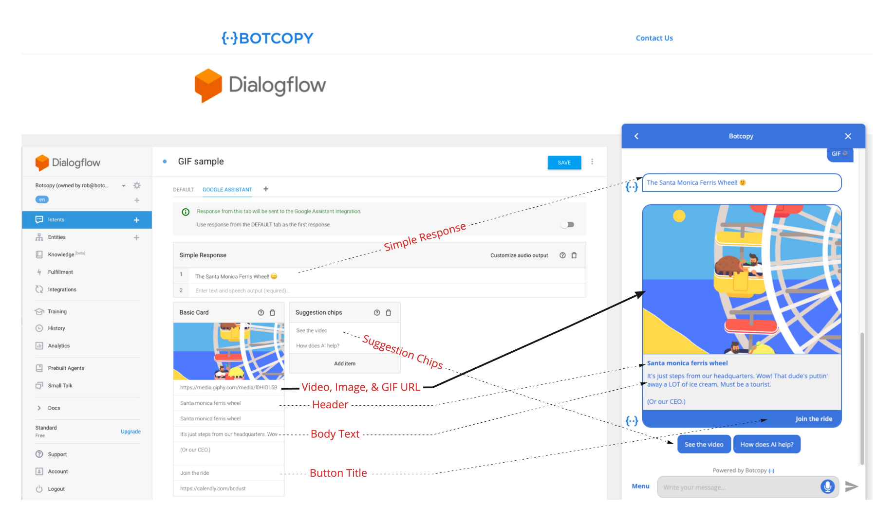 How to connect Dialogflow to your website in seconds without using