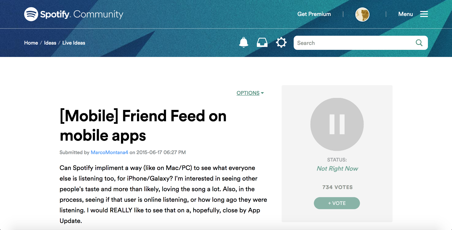 What if Spotify had Stories? - Prototypr
