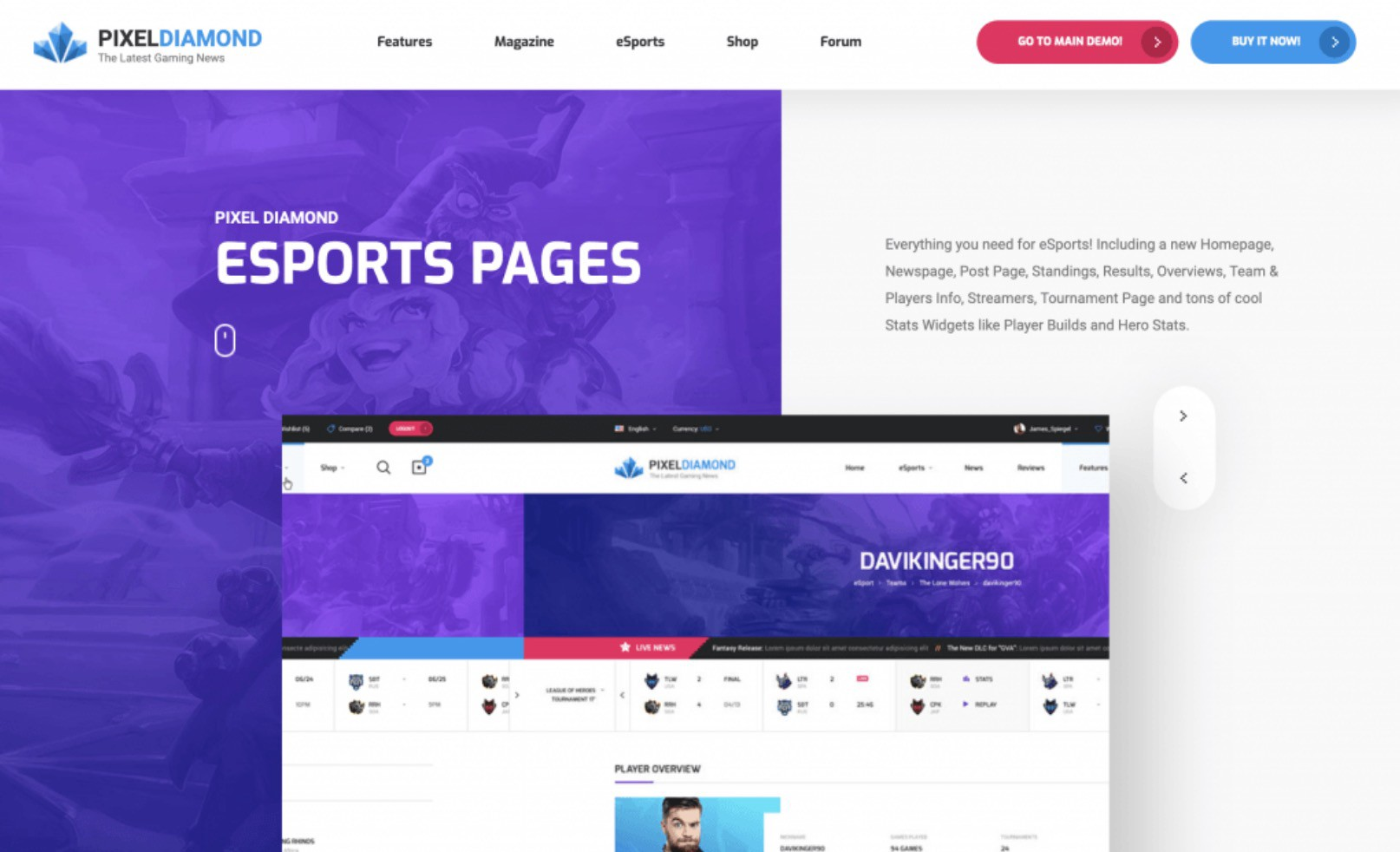 Best 7 HTML Sports Themes for E-Sports, Football, Basketball