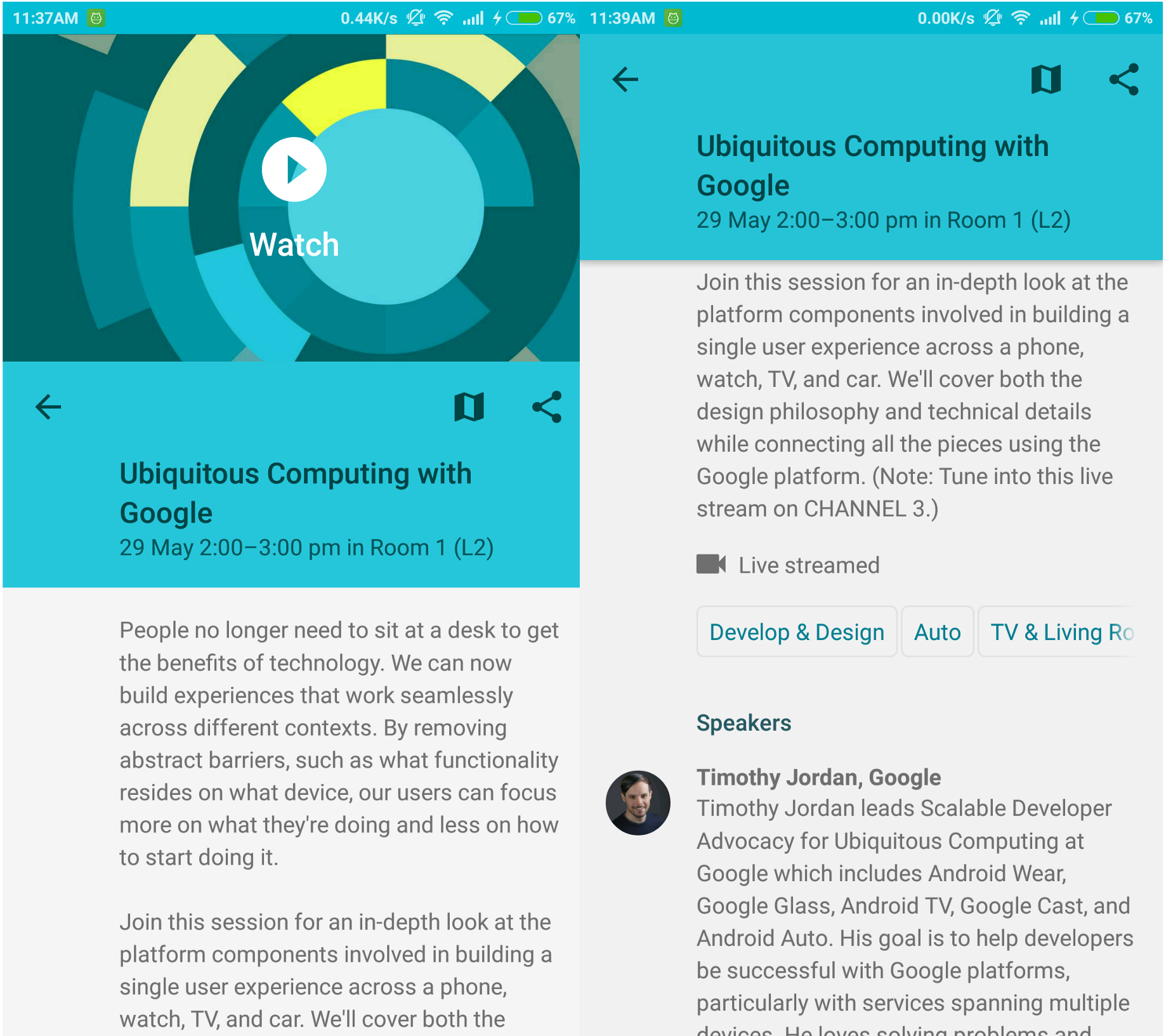 Android: Appbar scroll from middle of screen as in Google I/O app