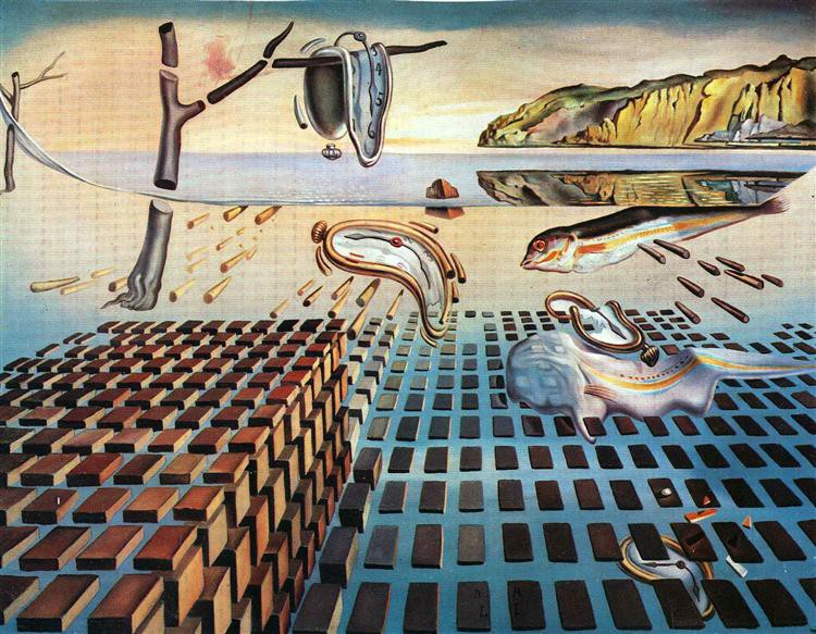 """An Analysis: Salvador Dali's """"The Disintegration of the Persistence of Memory""""   by Wess Haubrich   Medium"""