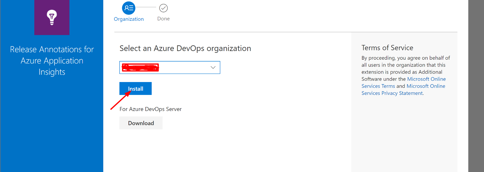 Azure Devops — Using the Application Insights release annotation task