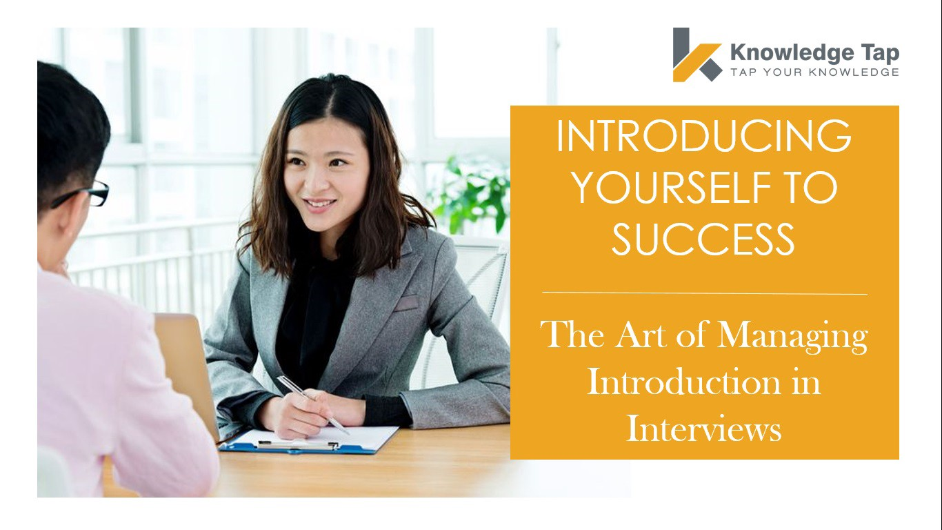 INTRODUCING YOURSELF TO SUCCESS: THE ART OF MANAGING INTRODUCTION IN
