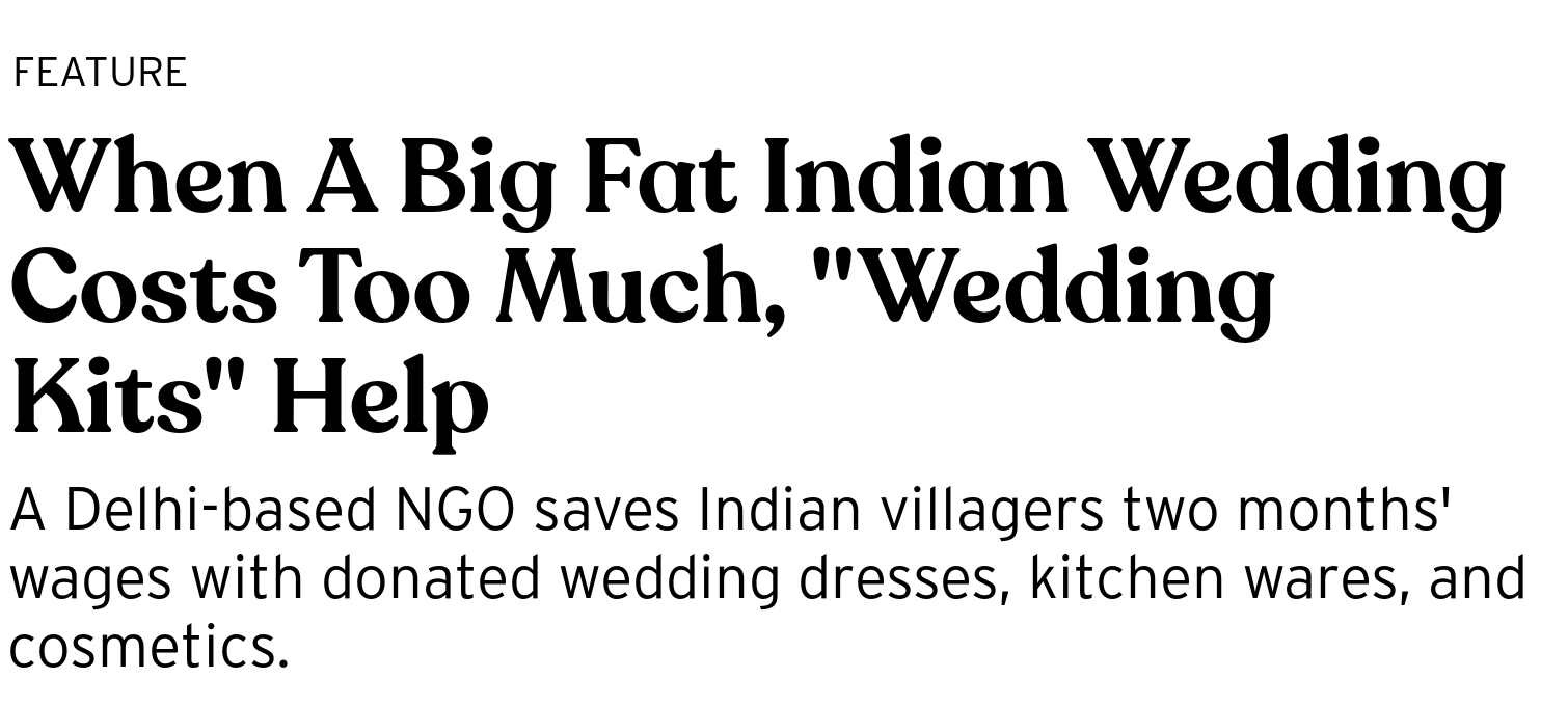 """When A Big Fat Indian Wedding Costs Too Much, """"Wedding Kits"""" Help"""