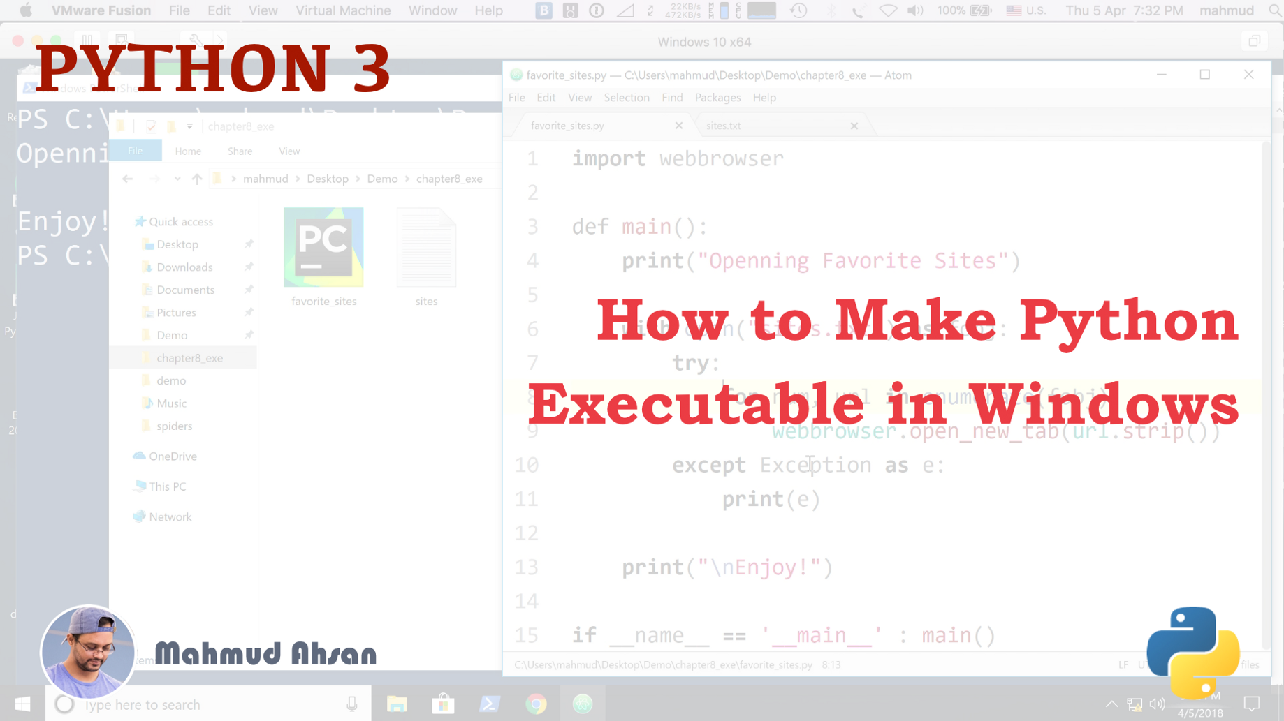 How to Make Python Executable in Windows PyInstaller Webbrowser