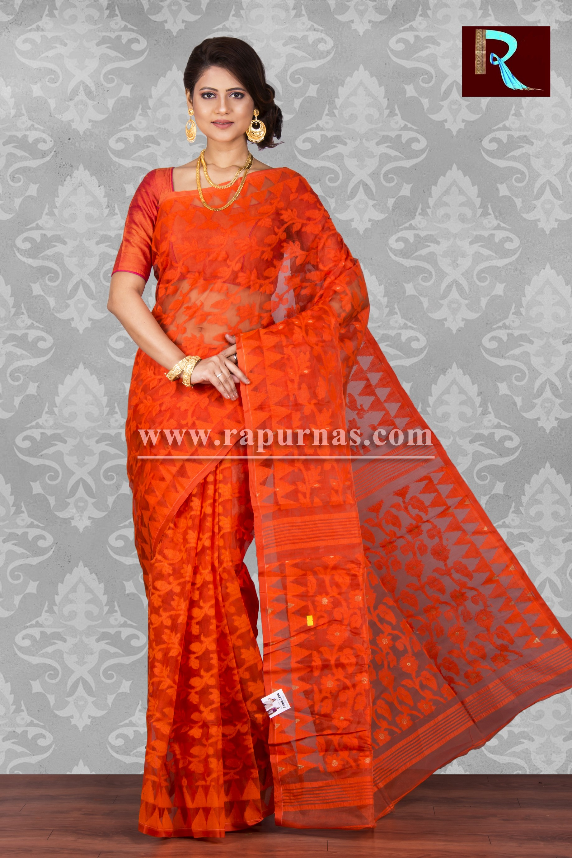 b744066901 Explore and shop outstanding stylish Jamdani Saree and Dhakai Jamdani Silk  sarees online at lowest prices with Rapurnas. Check our all new design ...
