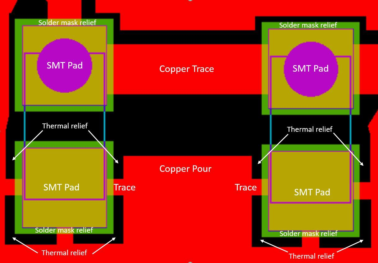 How to Design Thermal Reliefs with Minimal Manufacturing Issues