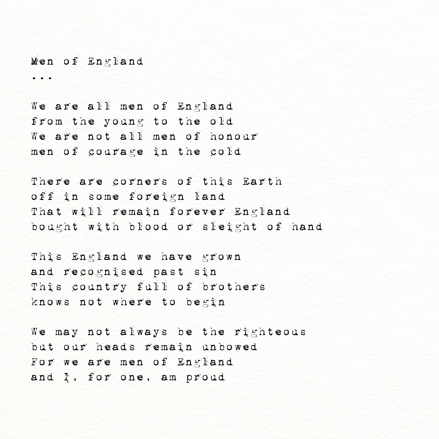 Men of England - Another English Poet - Medium