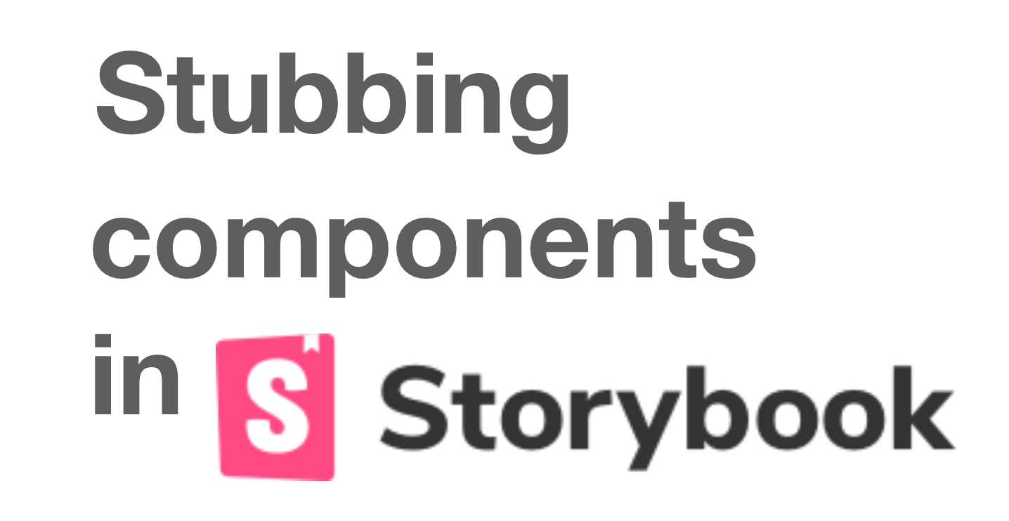 How to stub VueJS (React) container components in Storybook