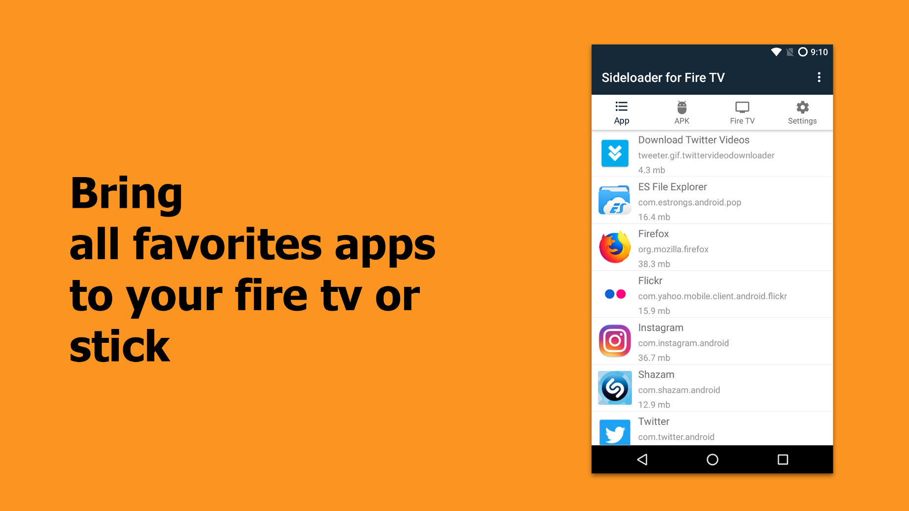 Sideload Apps on the Fire TV and Fire TV Stick with Sideloader for