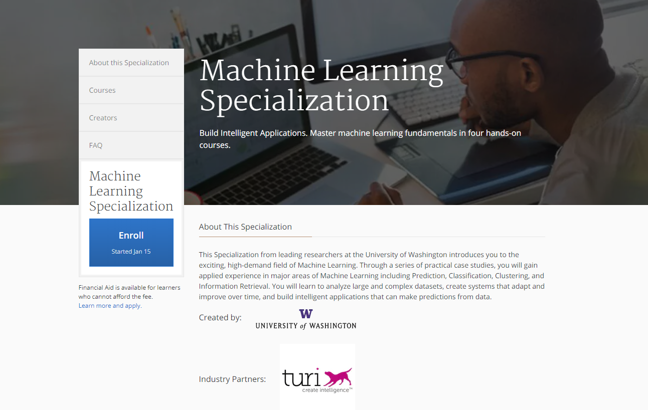 A Review Of The Coursera Machine Learning Specialization By Will Koehrsen Medium