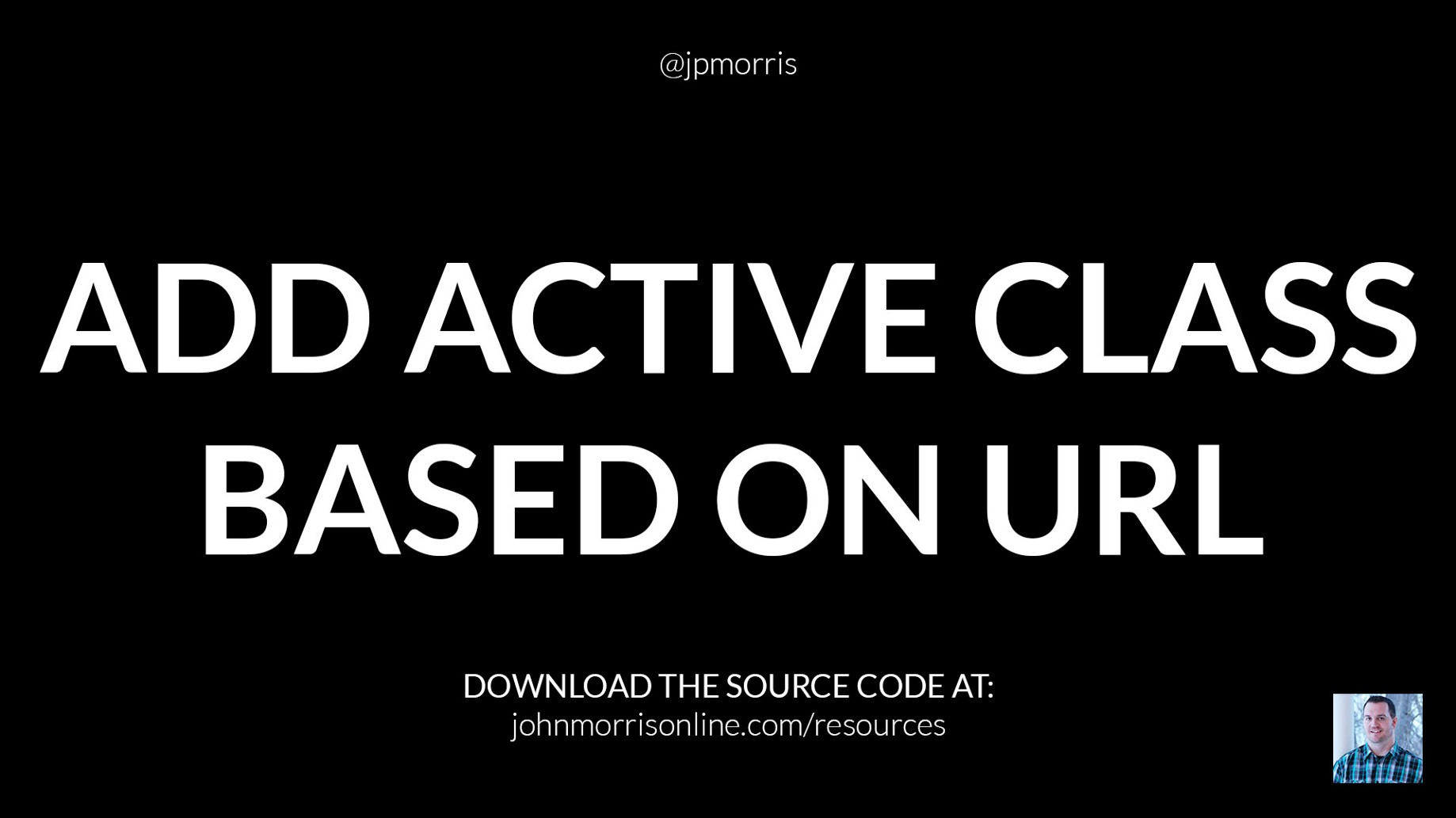Add Active Navigation Class to Menu Item Based on URL Using jQuery