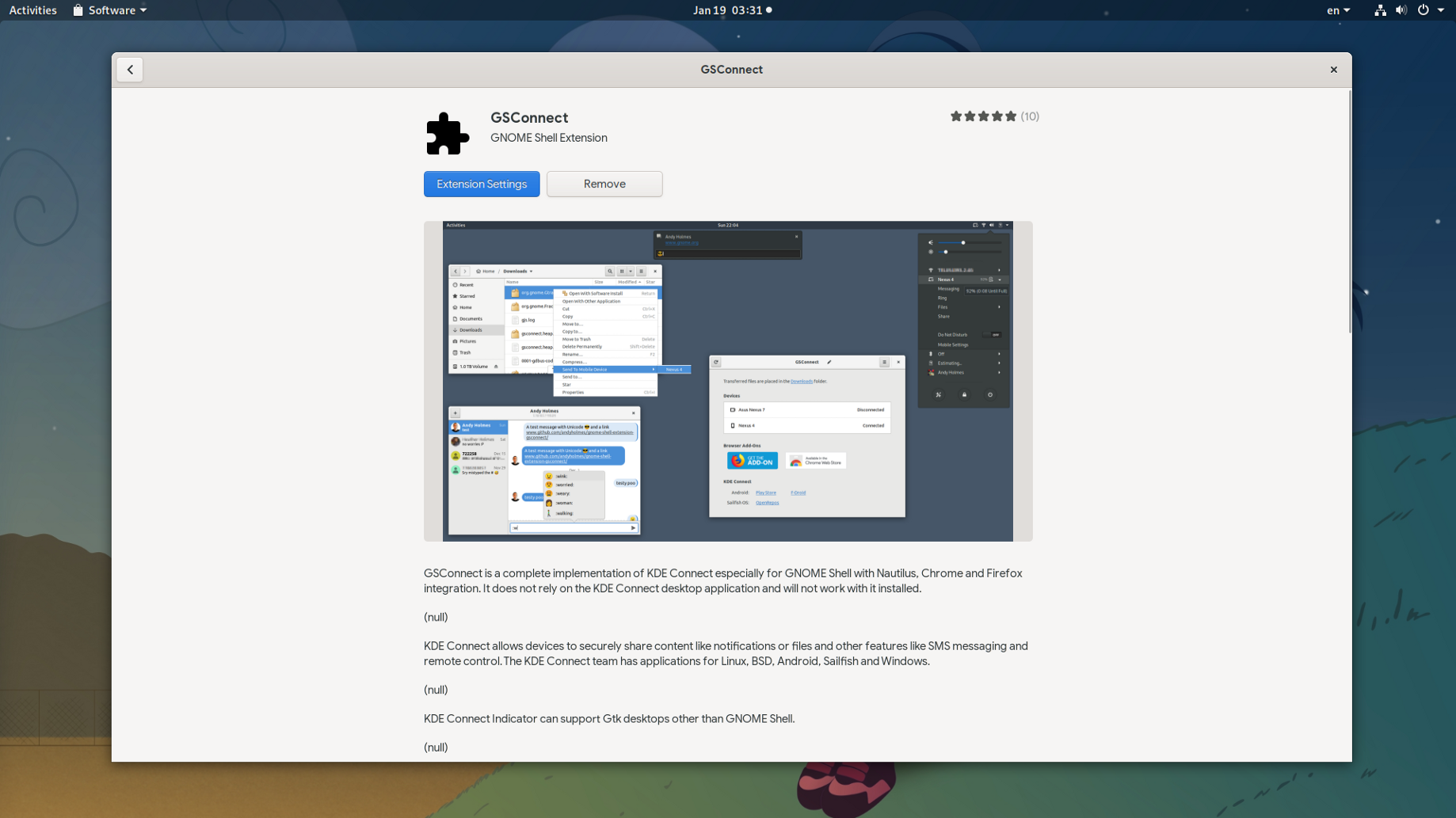 Add Android Support on GNOME w GS-Connect - alex285 - Medium