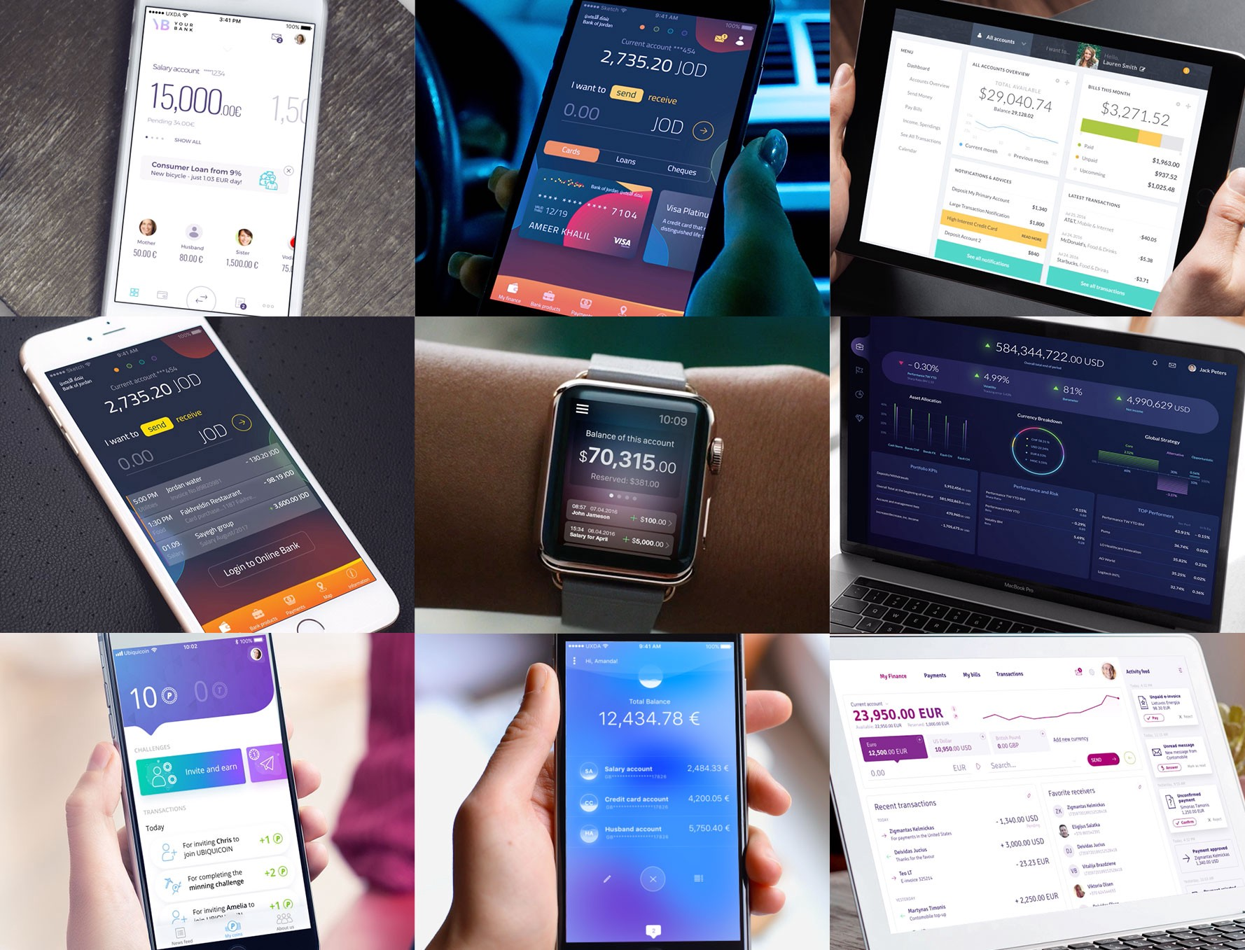 A Collection of 10 Inspiring & Refreshing Banking and FinTech UI/UX