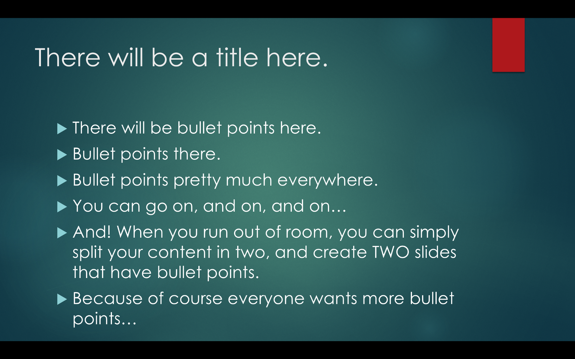 how you should really use bullet points in a presentation