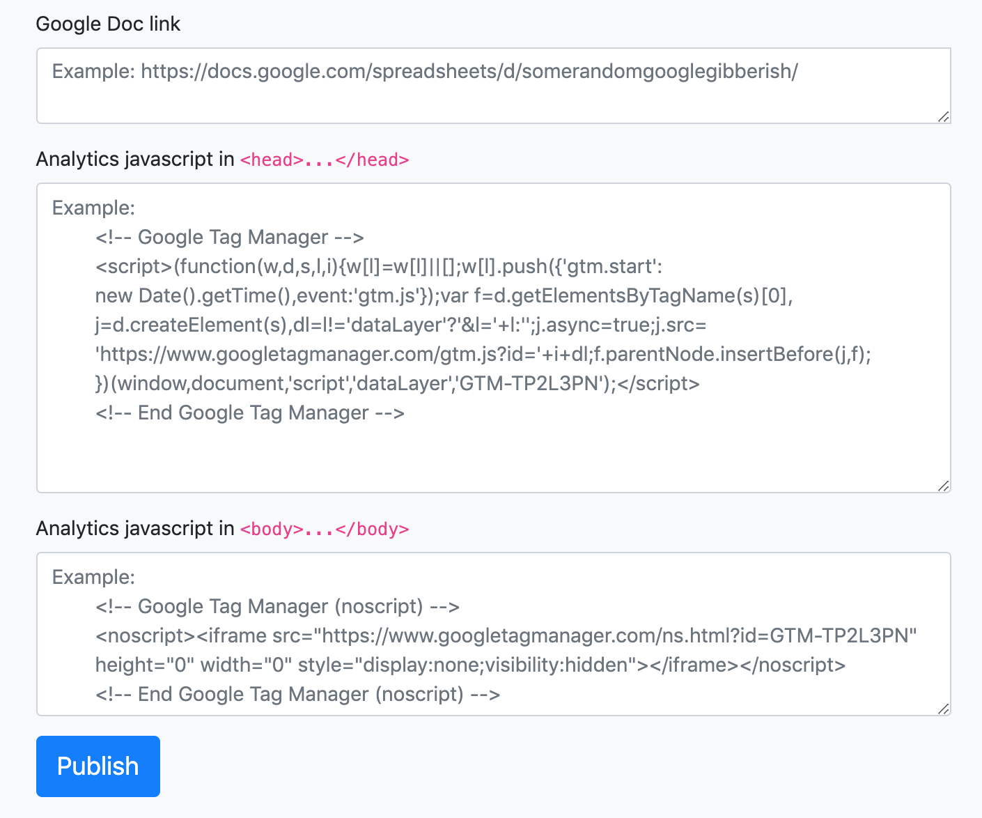 Use Google Analytics in Google Docs, tracking viewers of a Google Doc