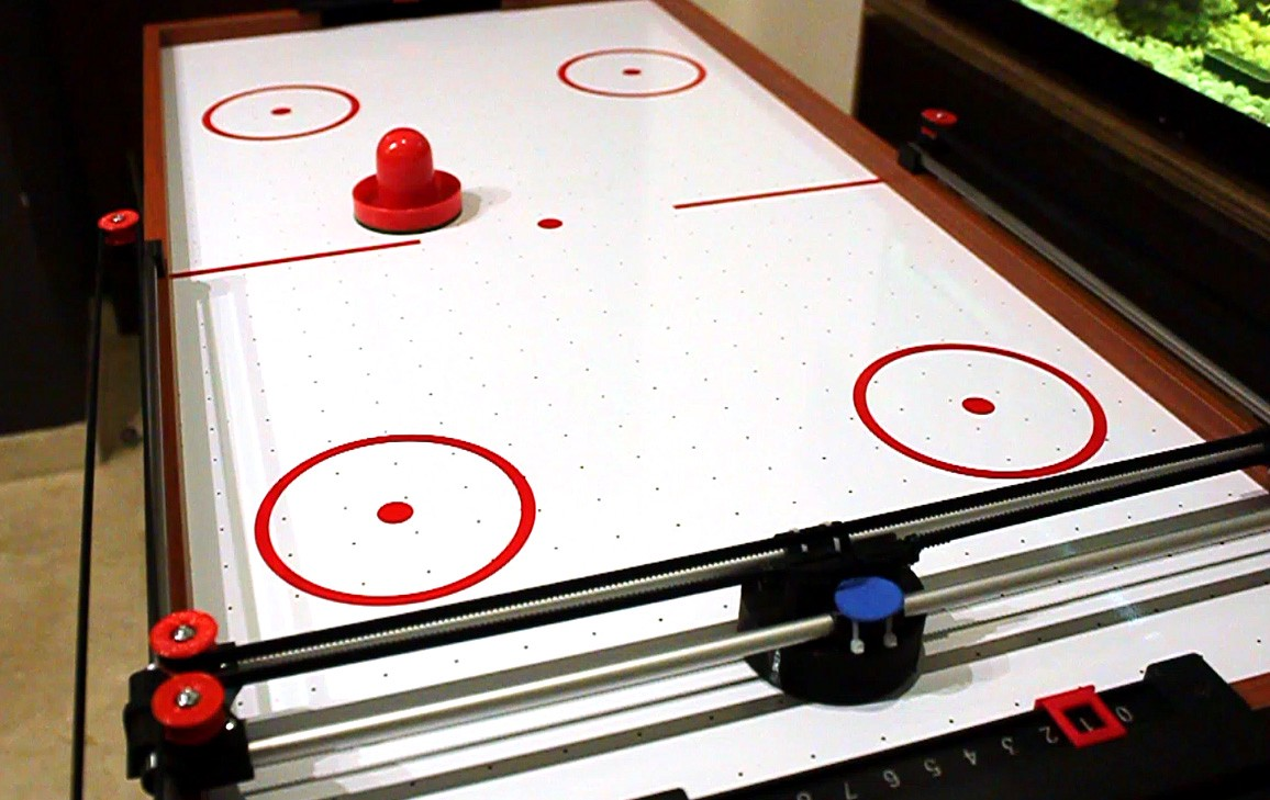 Play Air Hockey Against This Phone Controlled Robot