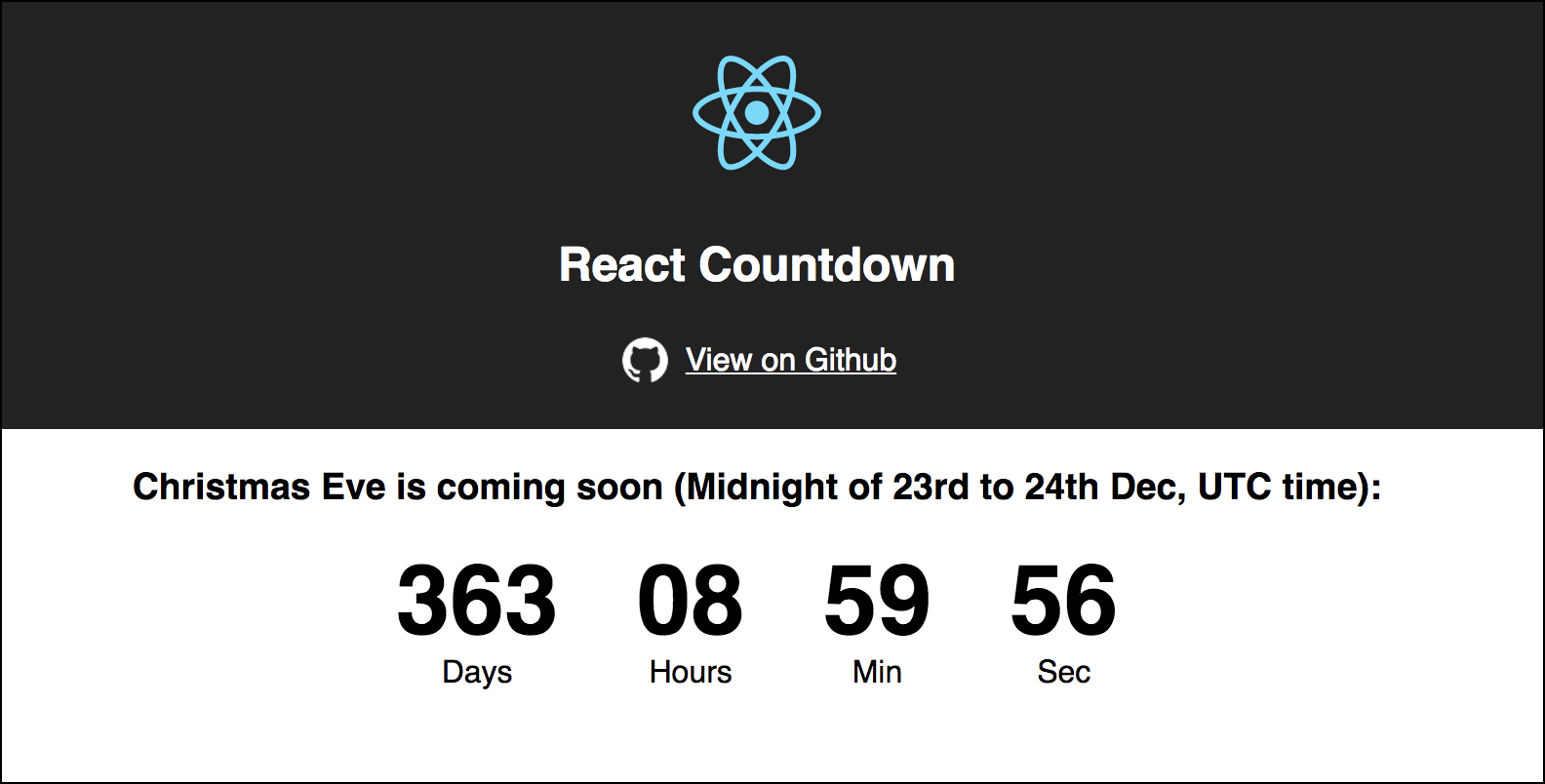 React Countdown - Kristin Baumann - Medium
