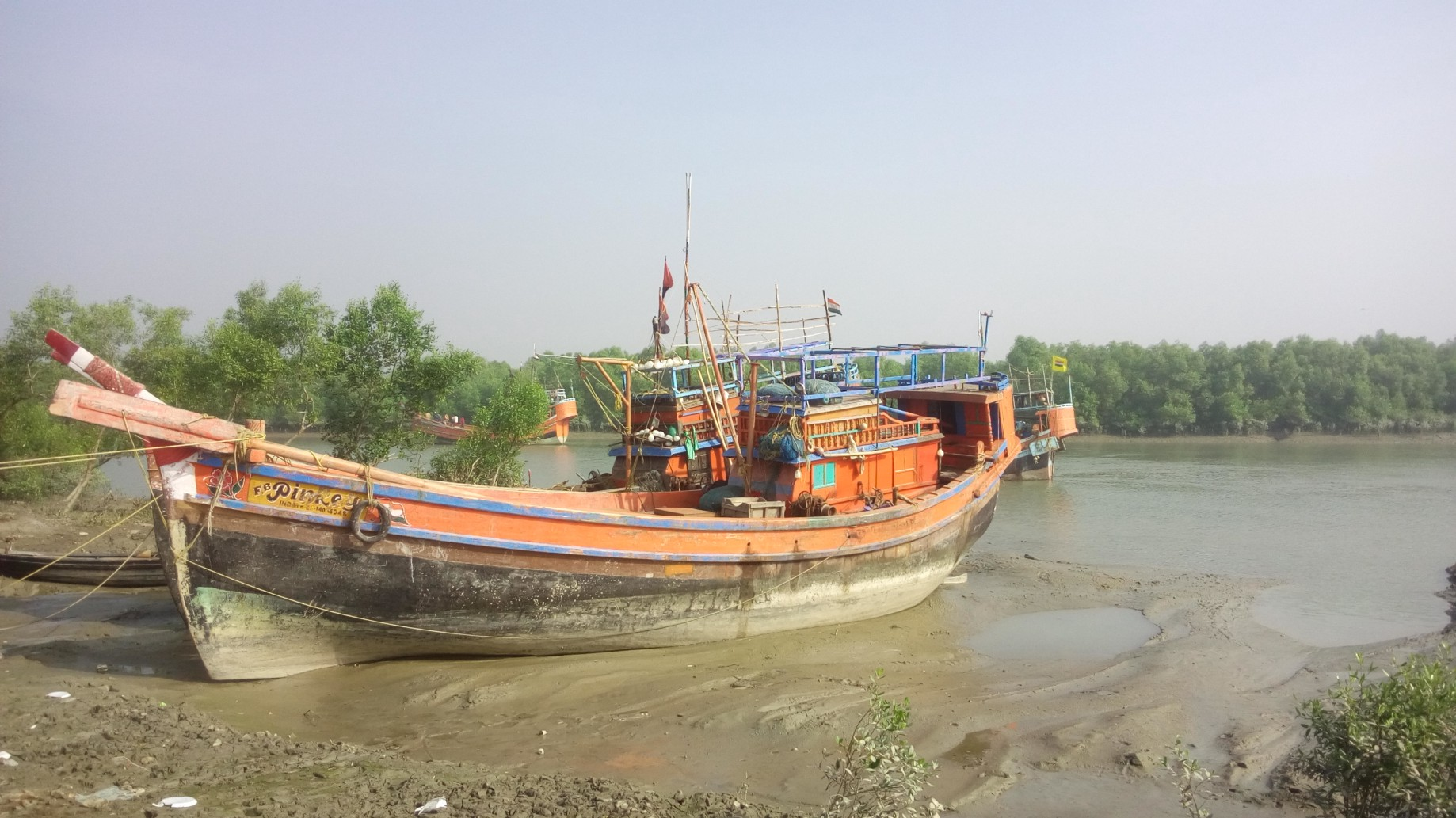 The fishing boat,the local fishermen's transport to their office