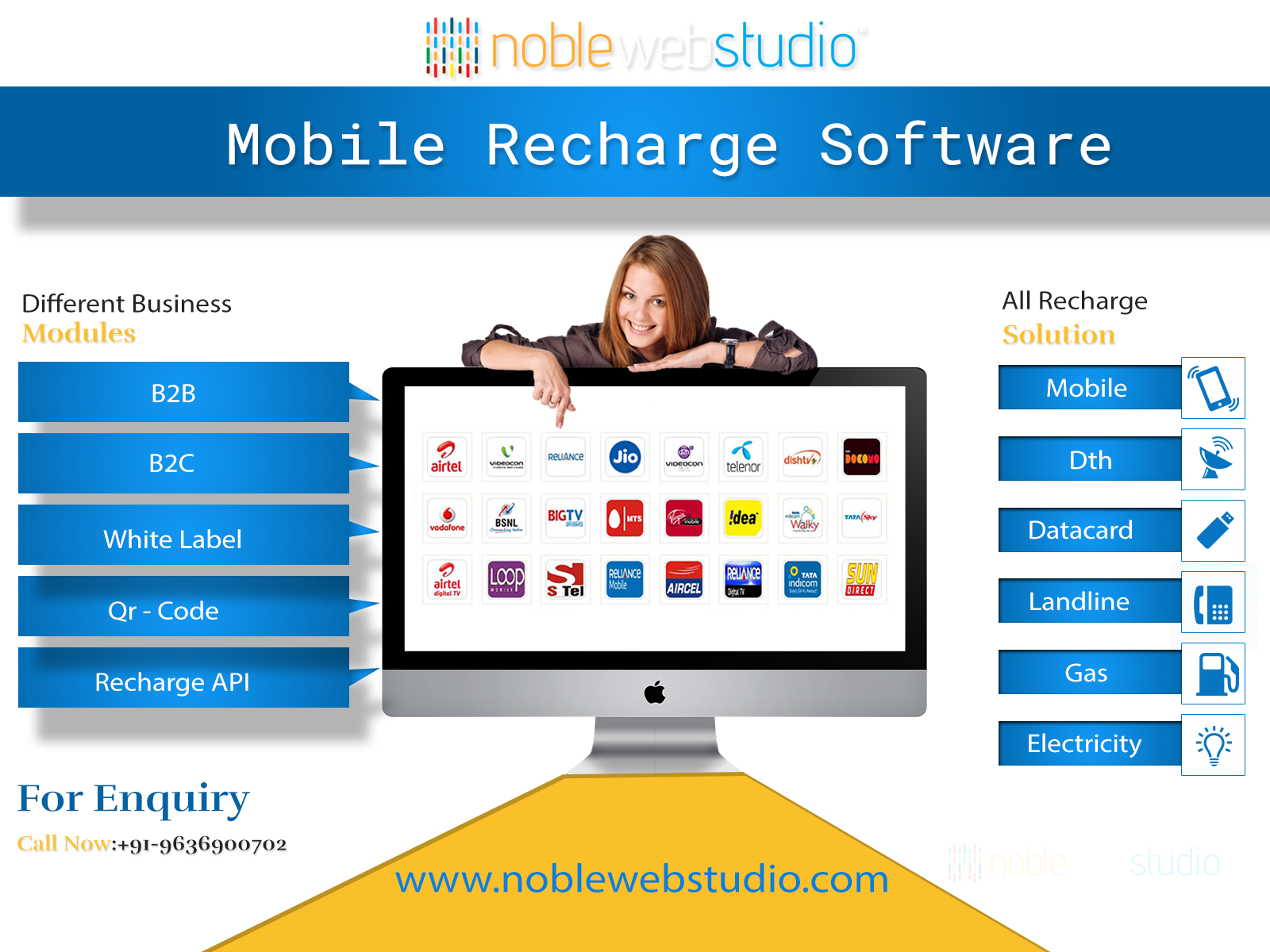 Mobile Recharge Software for B2B/B2C and White Label resellers!