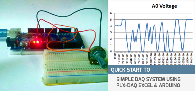 Quick Start to Simple DAQ System using PLX-DAQ Excel & Arduino