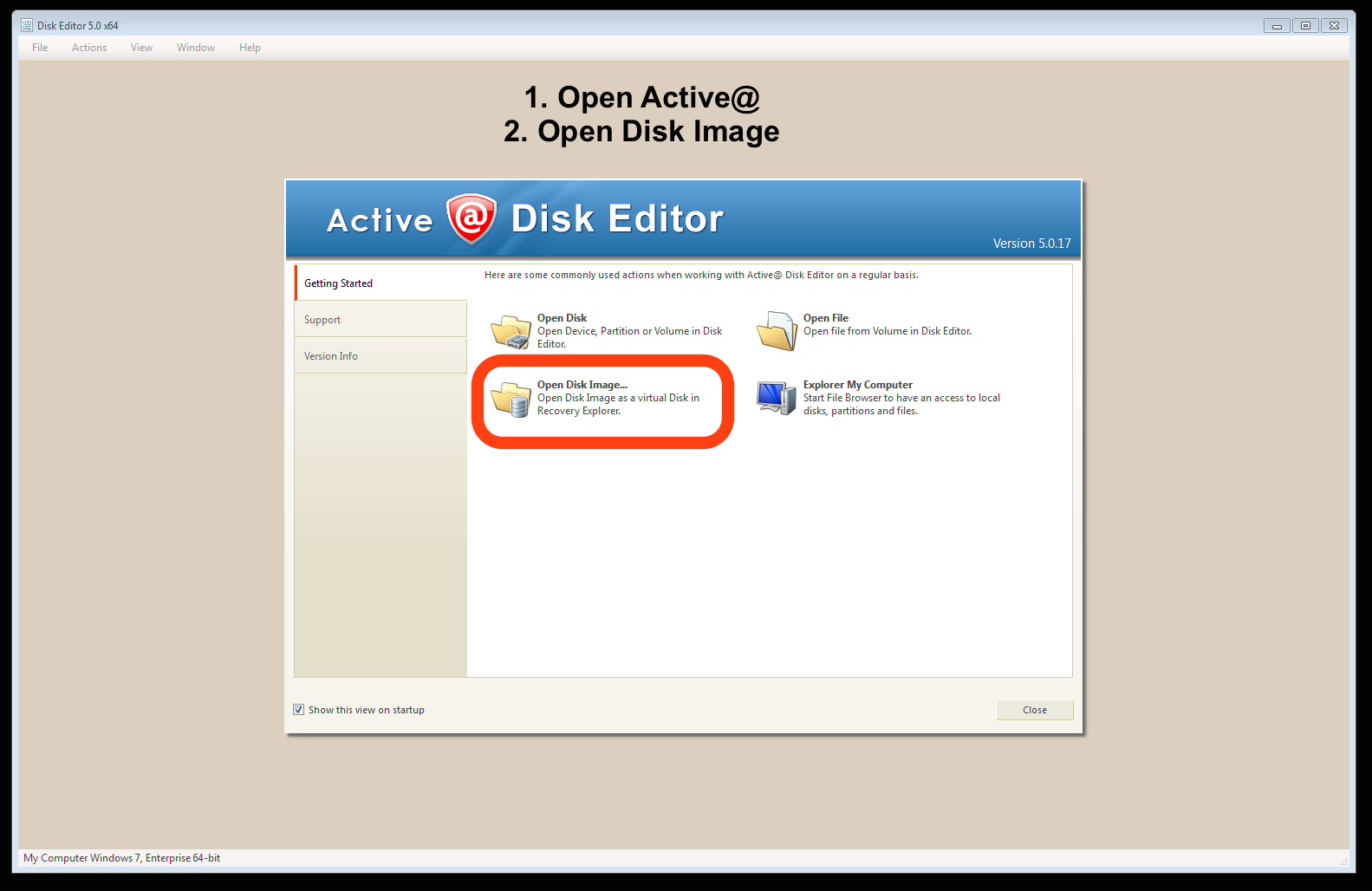 How to open an image in Active@ Disk Editor - dfclub - Medium