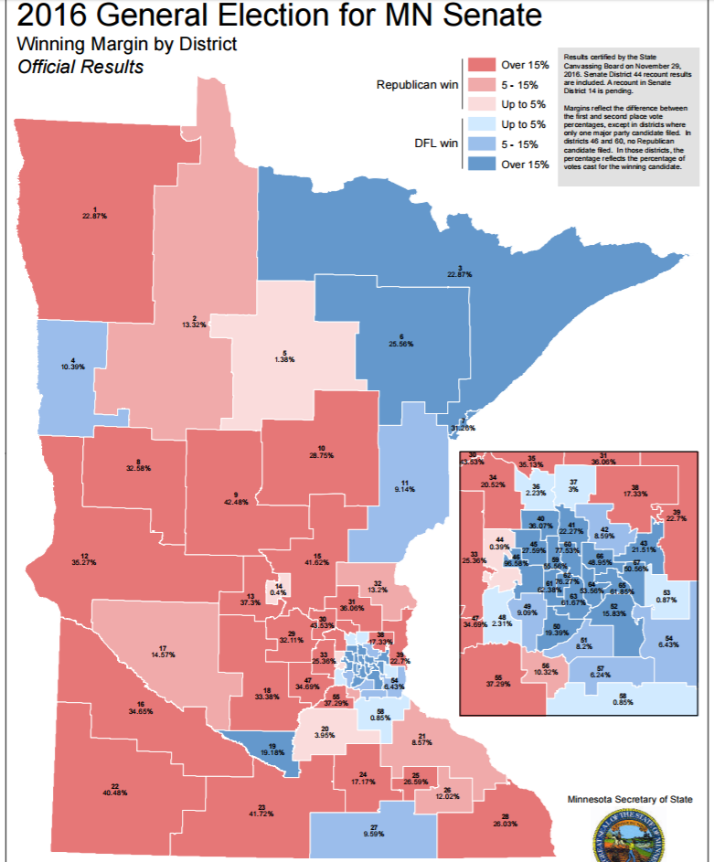 Getting Specific About Downballot Elections: The Minnesota State Senate.