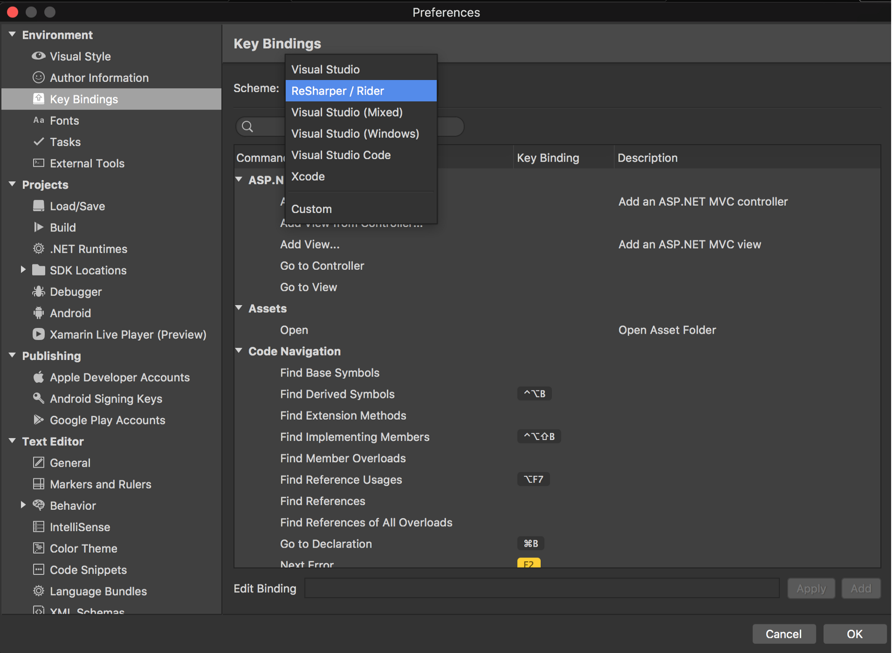 Keyboard shortcuts in Visual studio for Mac - codeburst