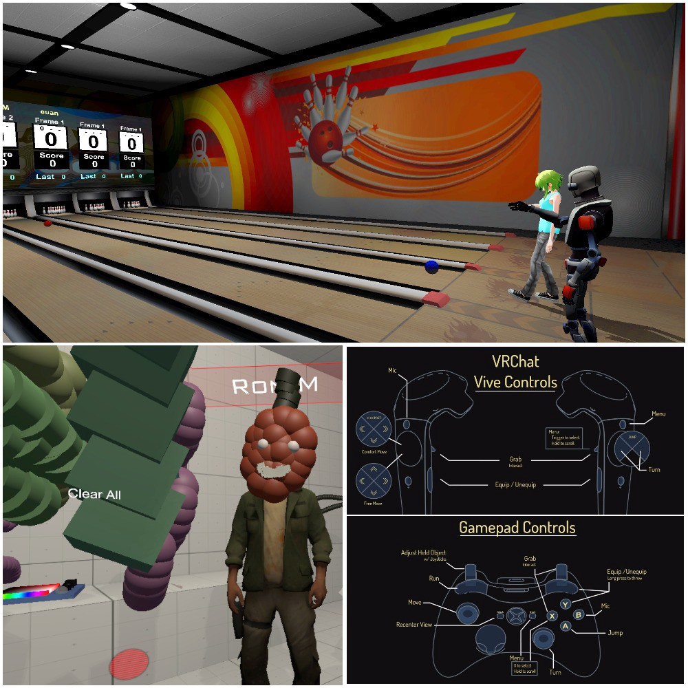 Bowling, Art Studio, and new Interaction - VRChat - Medium
