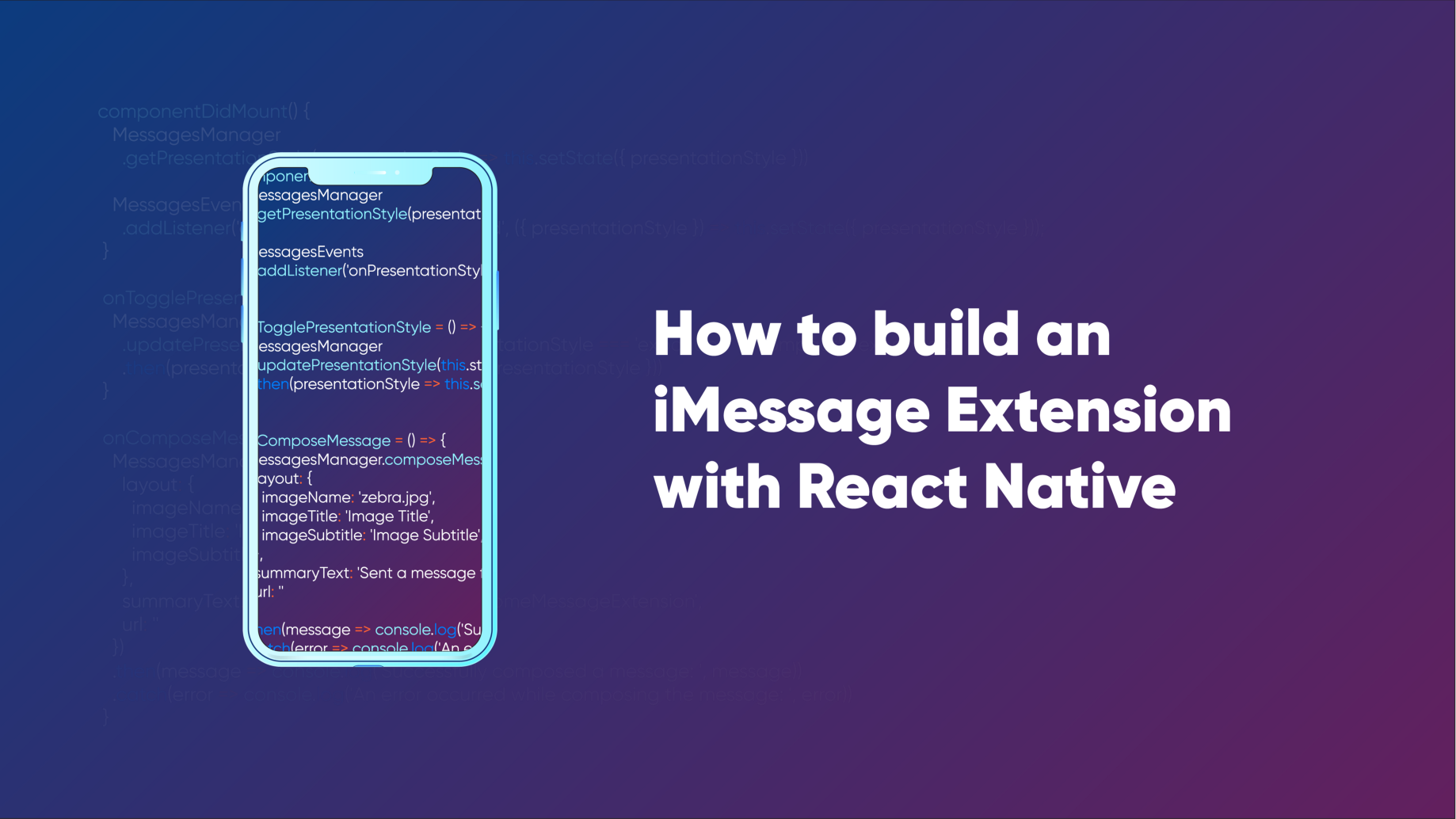 We built an iMessage Extension for our React Native-based mobile app