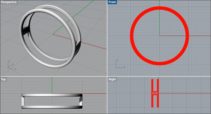Create a Two-Banded Ring in Rhino 3D - Drawing Post