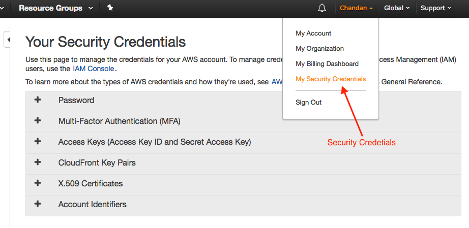 Step by step guide to setting up AWS Web services user and
