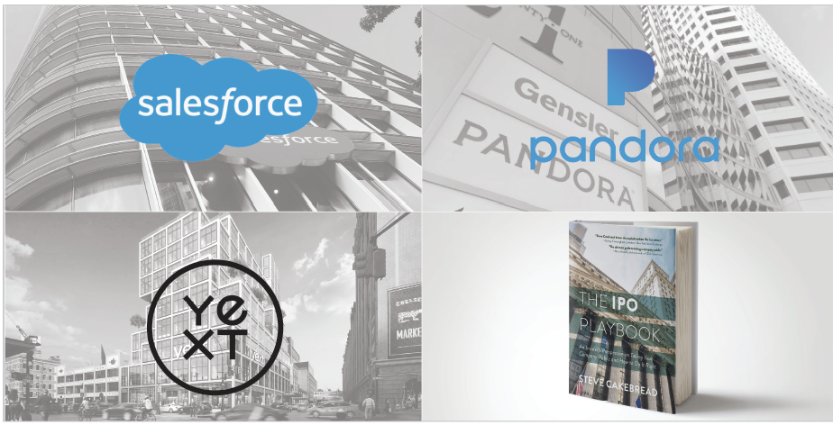 Salesforce, Pandora, Yext, IPO Playbook