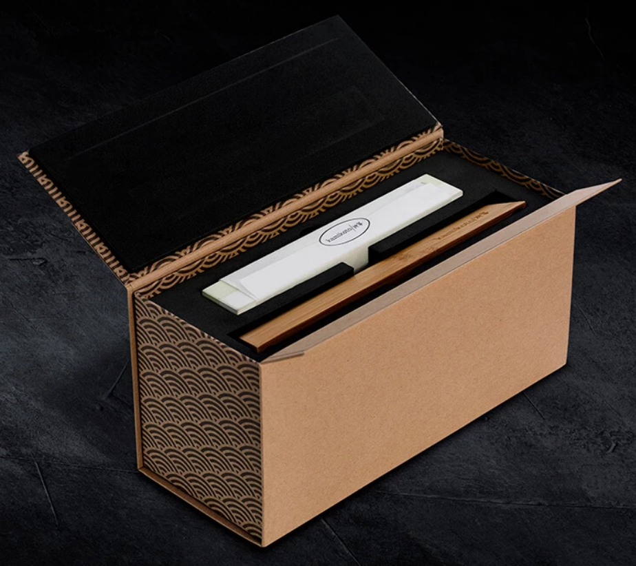 Kamikoto Whetstone — Comes with a Wooden Stand, Instruction Manual and Secure Packaging