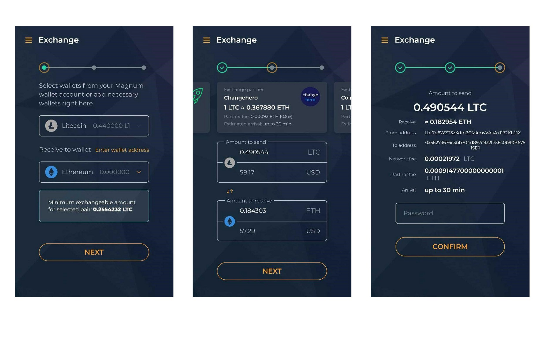 1*eEt4otlbbMUDaoTrbEvggg - Magnum Wallet and ChangeHero — How to Exchange Crypto Without Leaving the Wallet